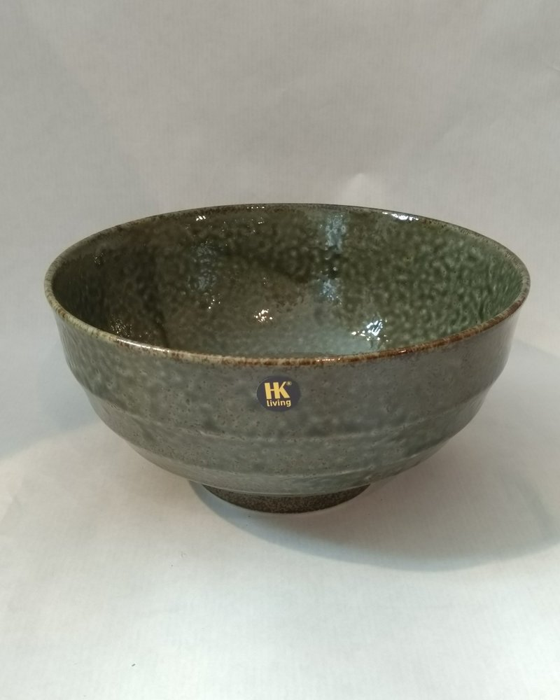 HK living Japanese ceramic noodle bowl groen