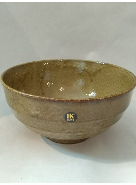 HK living Japanese ceramic noodle bowl oker