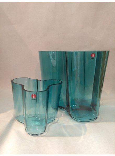 Iittala Aalto vase 160+95mm sea blue normaal 208,-