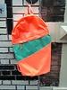 Susan Bijl Susan Bijl foldable backpack L fluor orange & green