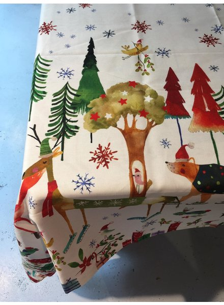 Tessitura Kerstkleed Natale nel bosco 160x230