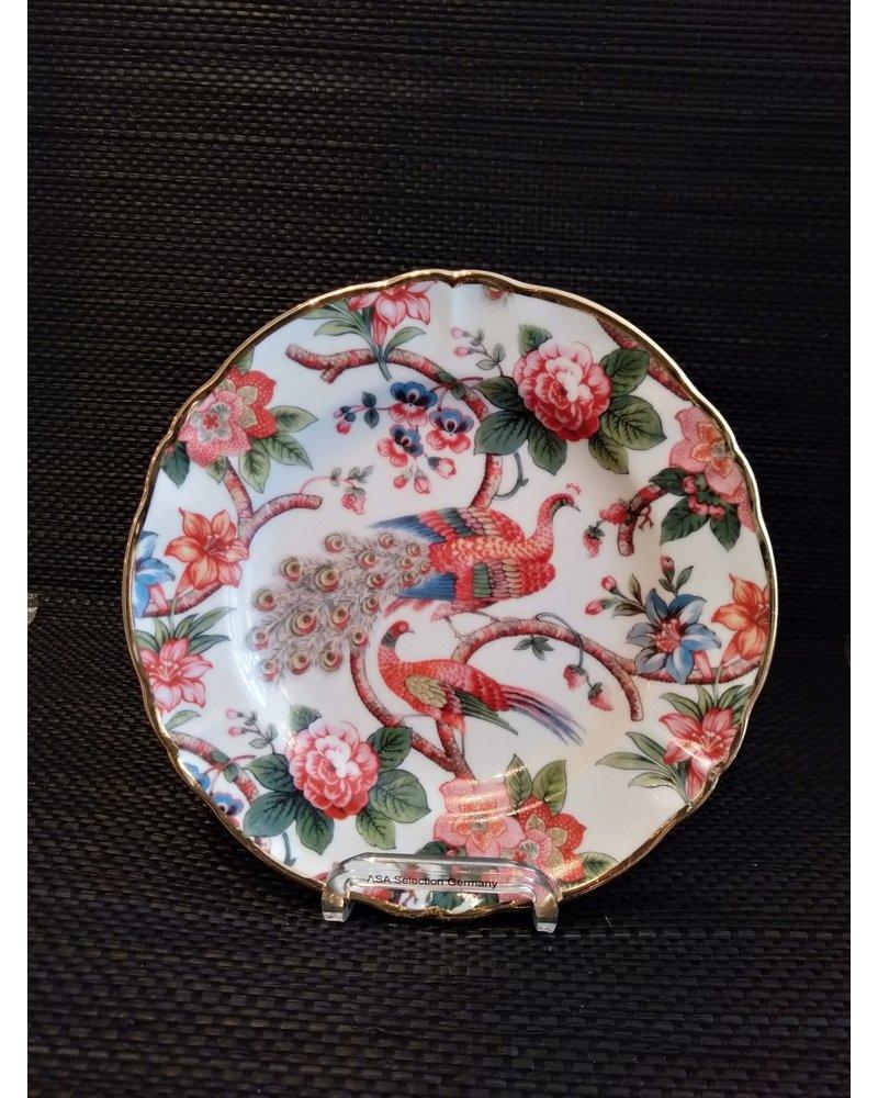Bitossi Bitossi Funky Table bord pauwen 20,5 cm