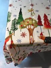 Tessitura Kerst kleed Natale Nel Bosco 170 rond