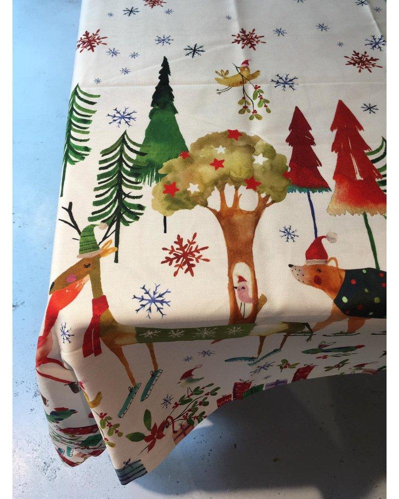 Tessitura Kerst kleed Natale Nel Bosco 140  x 170 cm