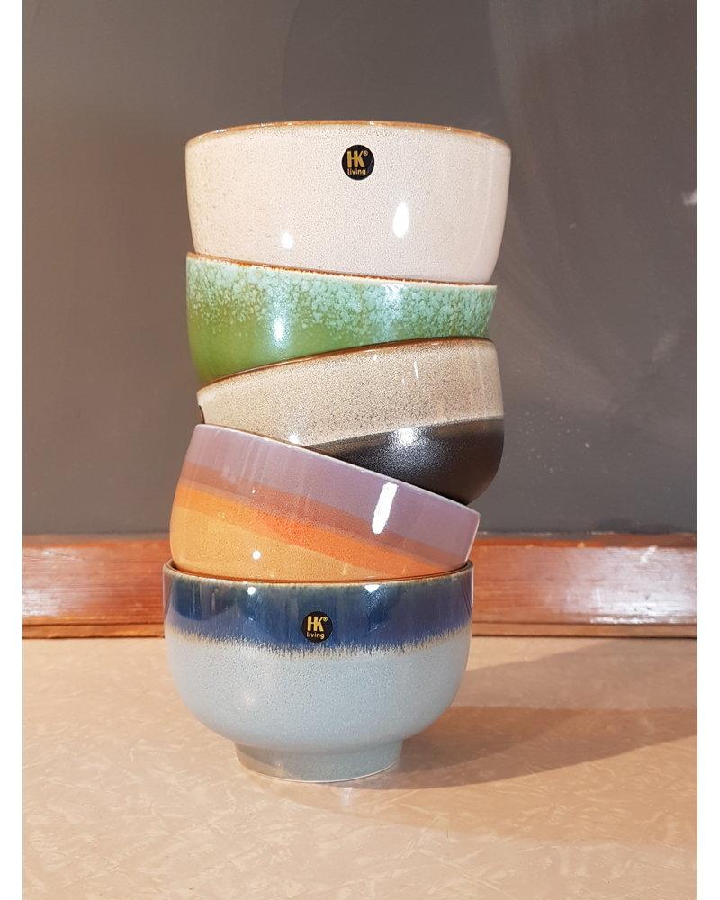 HK living ceramic 70's bowl: bark