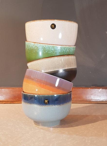 HK living ceramic 70's bowl grass