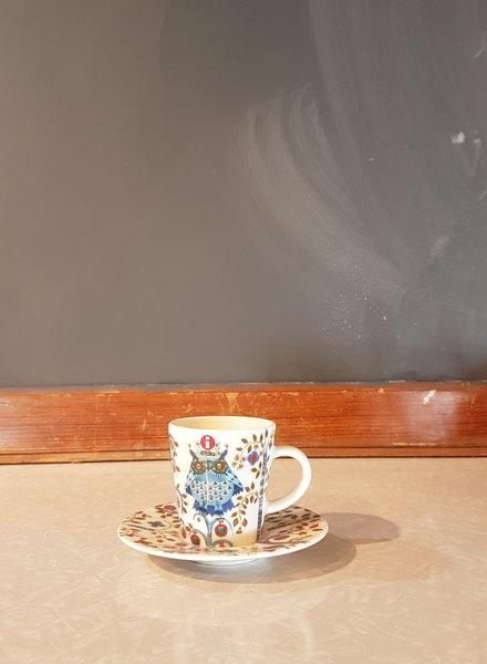 Iittala Taika espresso cup + saucer white