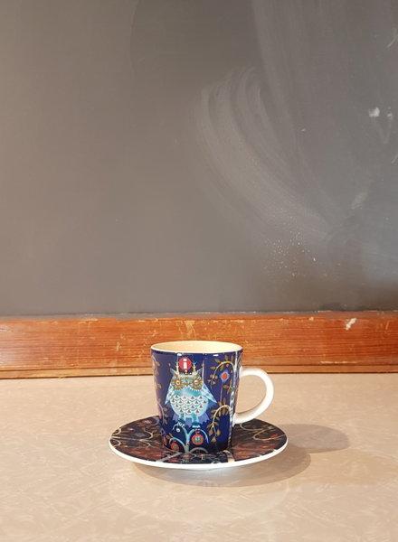 Iittala Taika espresso cup + saucer blue