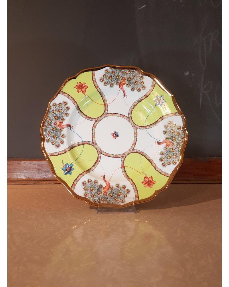 Bitossi Bitossi Funky Table bord pauwen 27 cm