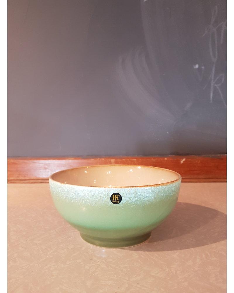HK living ceramic 70's salade bowl M: grass
