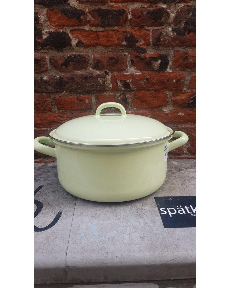 Riess Kookpan emaille 22 cm 3 liter groen