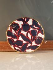 Bitossi Funky Table bord bloem zwart rood 20,5 cm