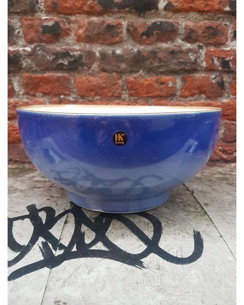 HK living ceramic 70's salade bowl L: ocean