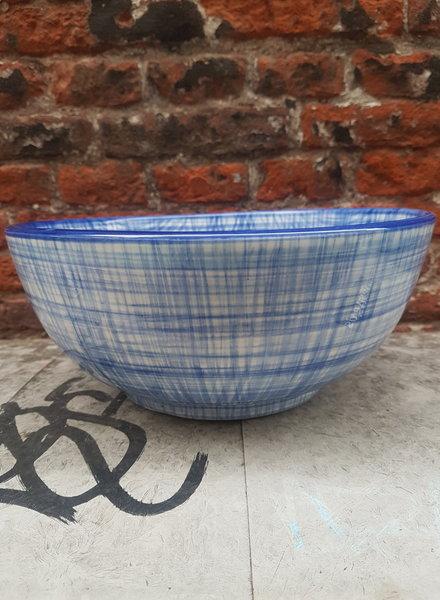 Bowls & dishes Skyline schaal 26 cm cross blauw