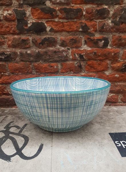 Bowls & dishes Skyline schaal 26 cm cross aqua