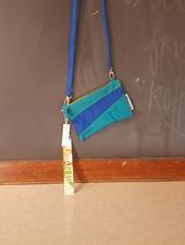 Susan Bijl Susan Bijl pouch S, plus strap aqua & blue