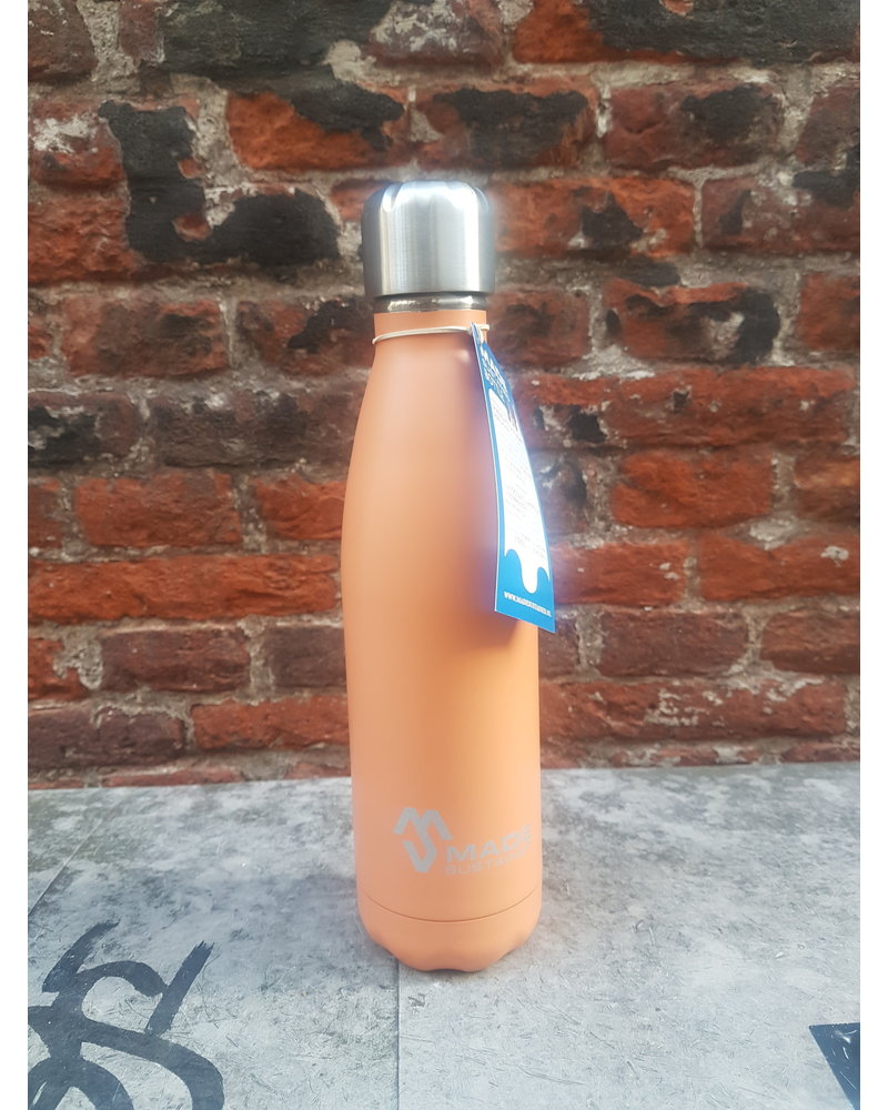 Made Sustained Knight fles RVS 500 ML Flamingo orange