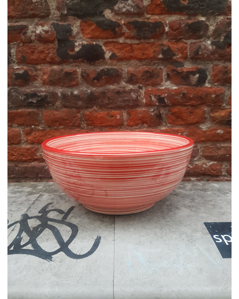 Bowls & dishes Skyline schaal 26 cm lines rood