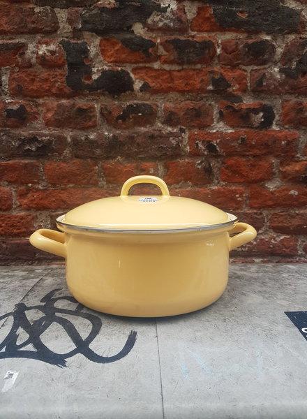Riess Kookpan emaille 2 liter geel
