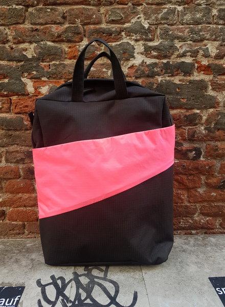 Susan Bijl Backpack Black and Fluo Pink