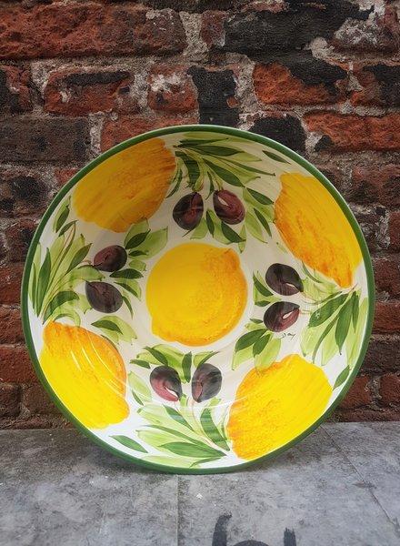 PICOBELLA Ronde schaal citroen olijf