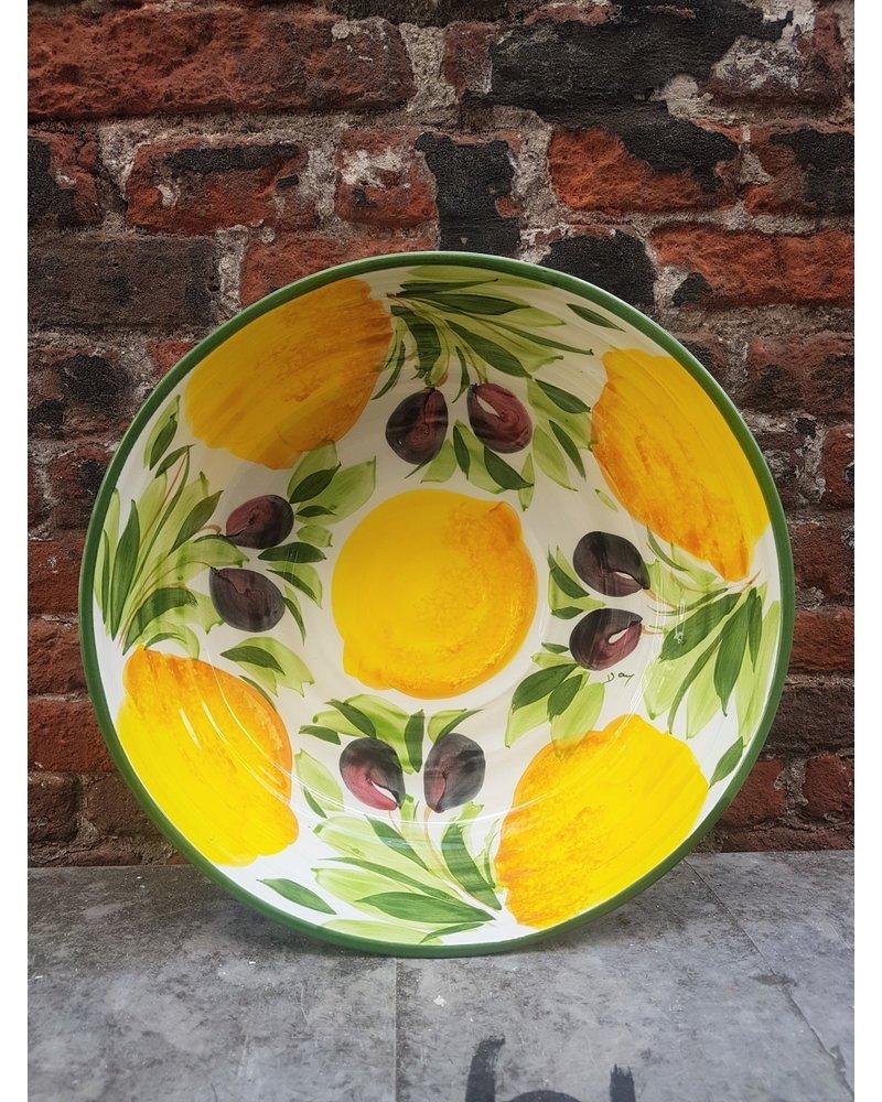 PICOBELLA PICOBELLA   ronde schaal citroen olijf