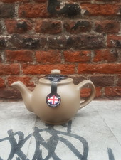 Theepot taupe 2 kops
