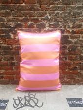 HK living Satijn/velvet kussen orange pink met vulling