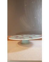 Fabienne Chapot Cake Plate on Stand Pelican 34cm
