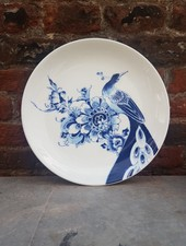 Royal Delft Peacock Symphony Dessert Plate Coupe