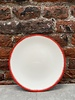 Serax Ann Demeulemeester Plate 14 cm 'Off White/Red' v.2