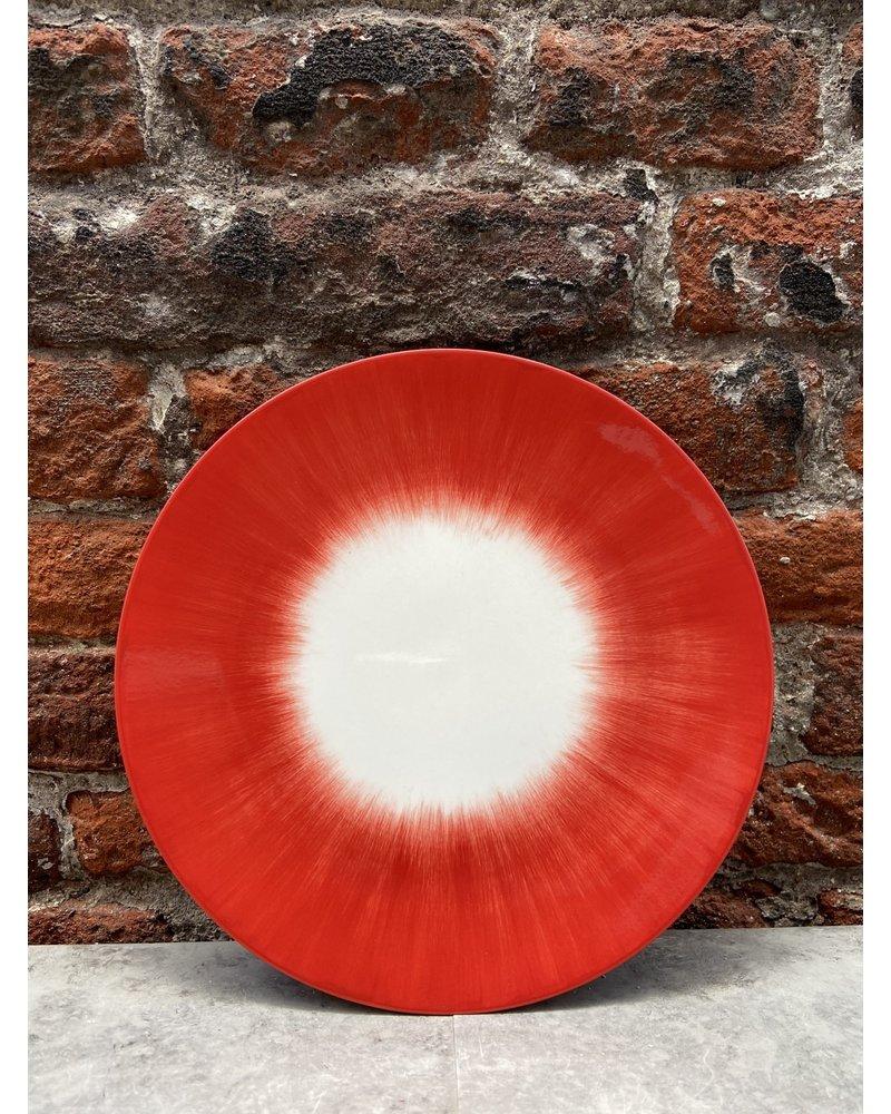 Serax Ann Demeulemeester Plate 14 cm 'Off White/Red' v.5