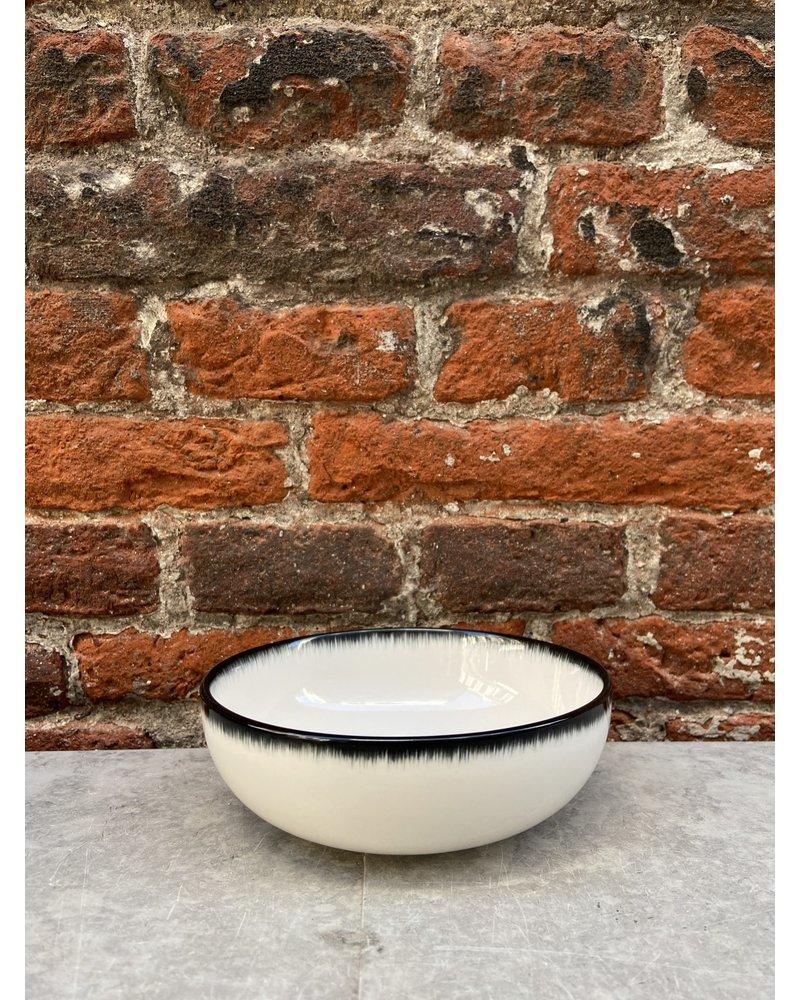 Serax Ann Demeulemeester High Plate 13 cm 'Off White/Black' v.A