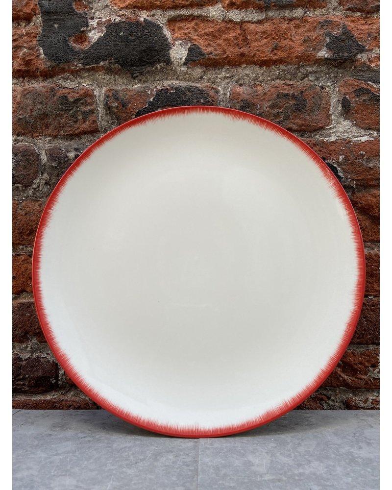 Serax Ann Demeulemeester Plate 24 cm 'Off White/Red' v.2