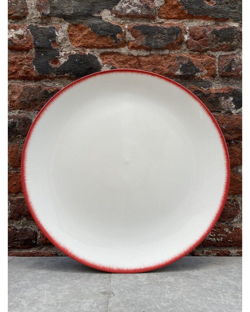 Serax Ann Demeulemeester Plate 28 cm 'Off White/Red' v.2
