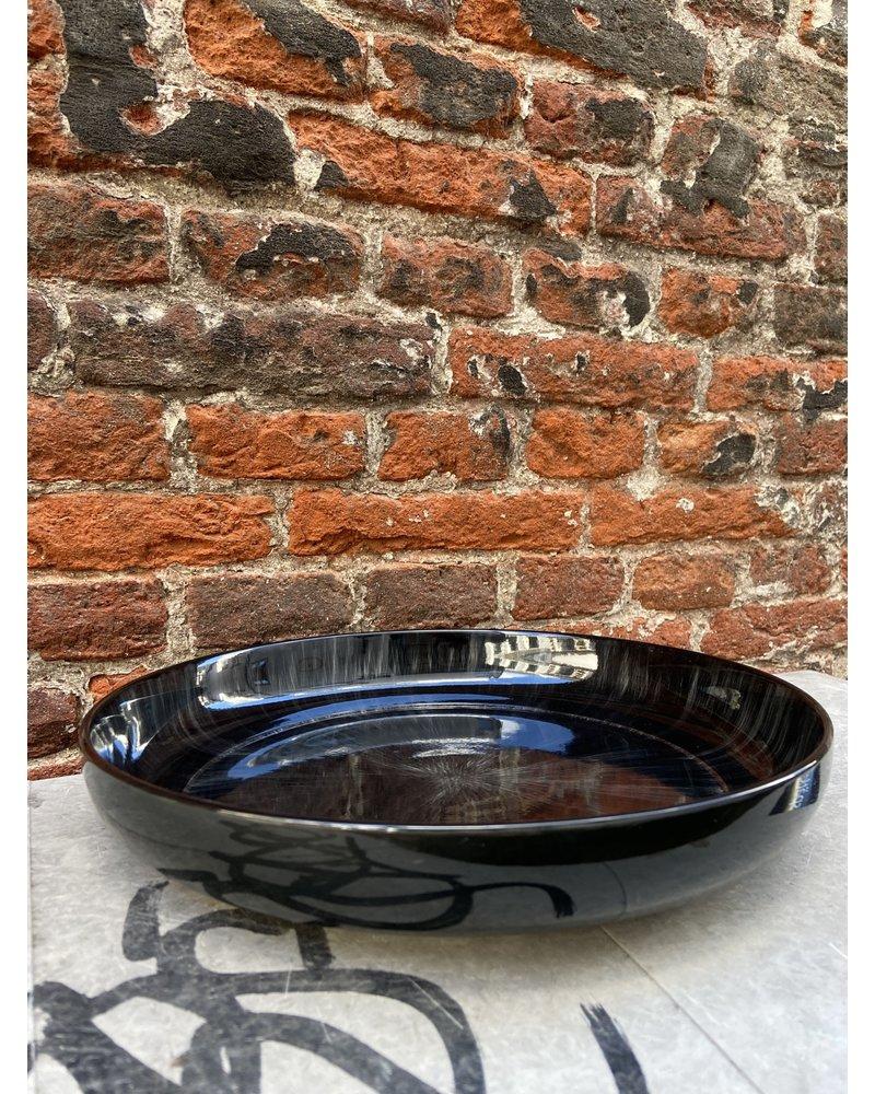Serax Ann Demeulemeester High Plate 27 cm 'Off White/Black' v.C