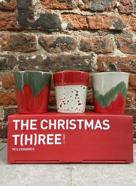 HK living Ceramic 70's Mugs: the Christmas T(h)ree