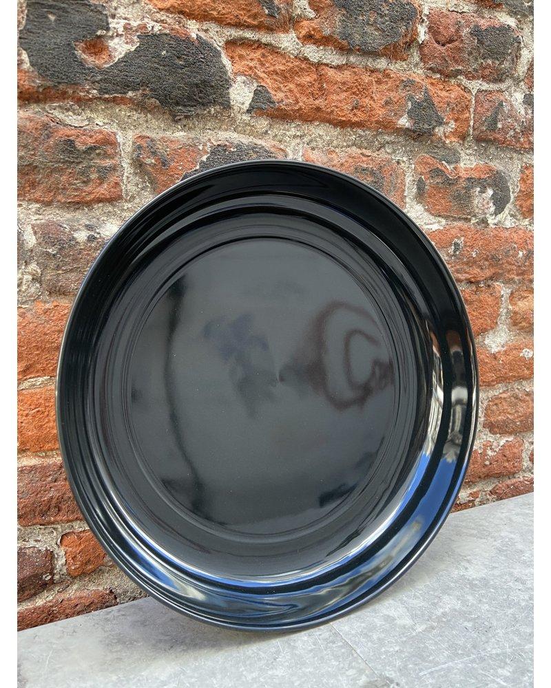 Serax Ann Demeulemeester High Plate 24 cm 'Off White/Black' v.B