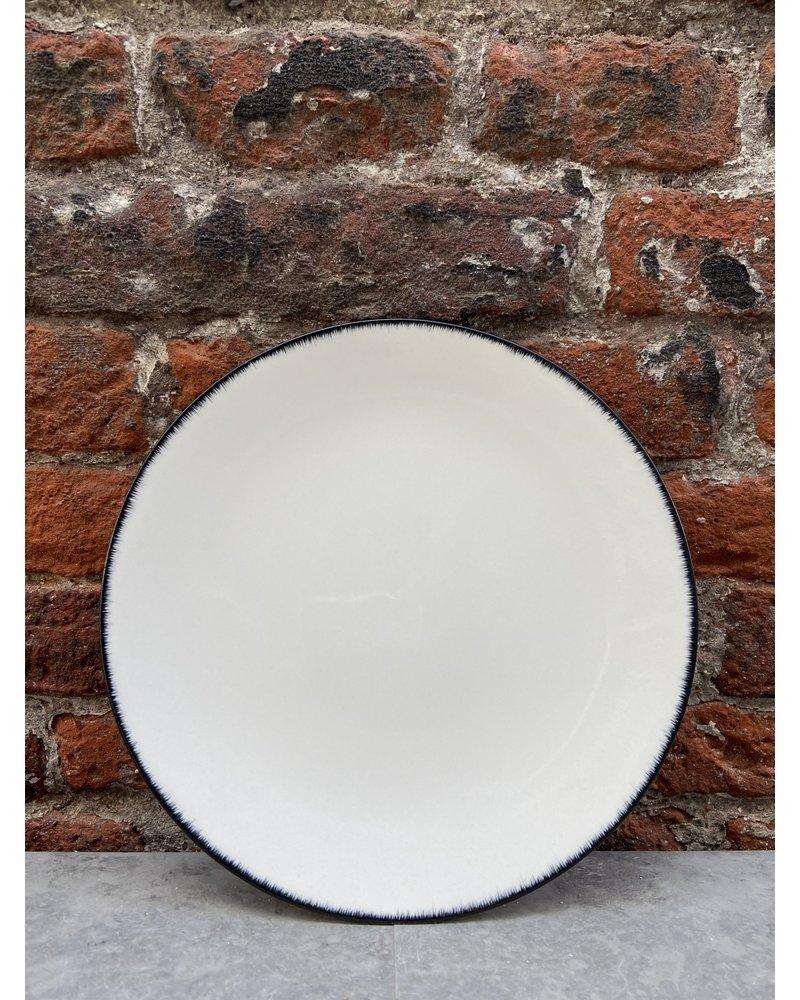 Serax Ann Demeulemeester Plate 17,5 cm 'Off White/Black' v.3