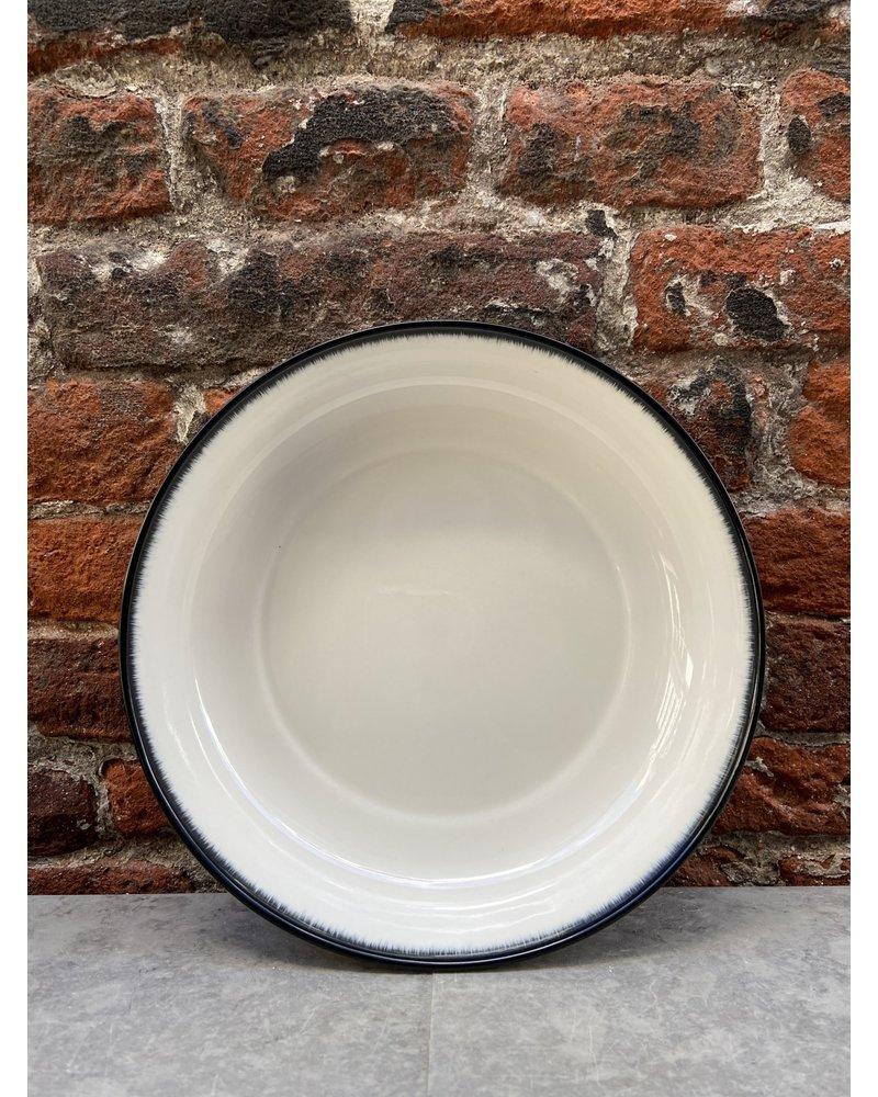 Serax Ann Demeulemeester High Plate 18,5 cm 'Off White/Black' v.A
