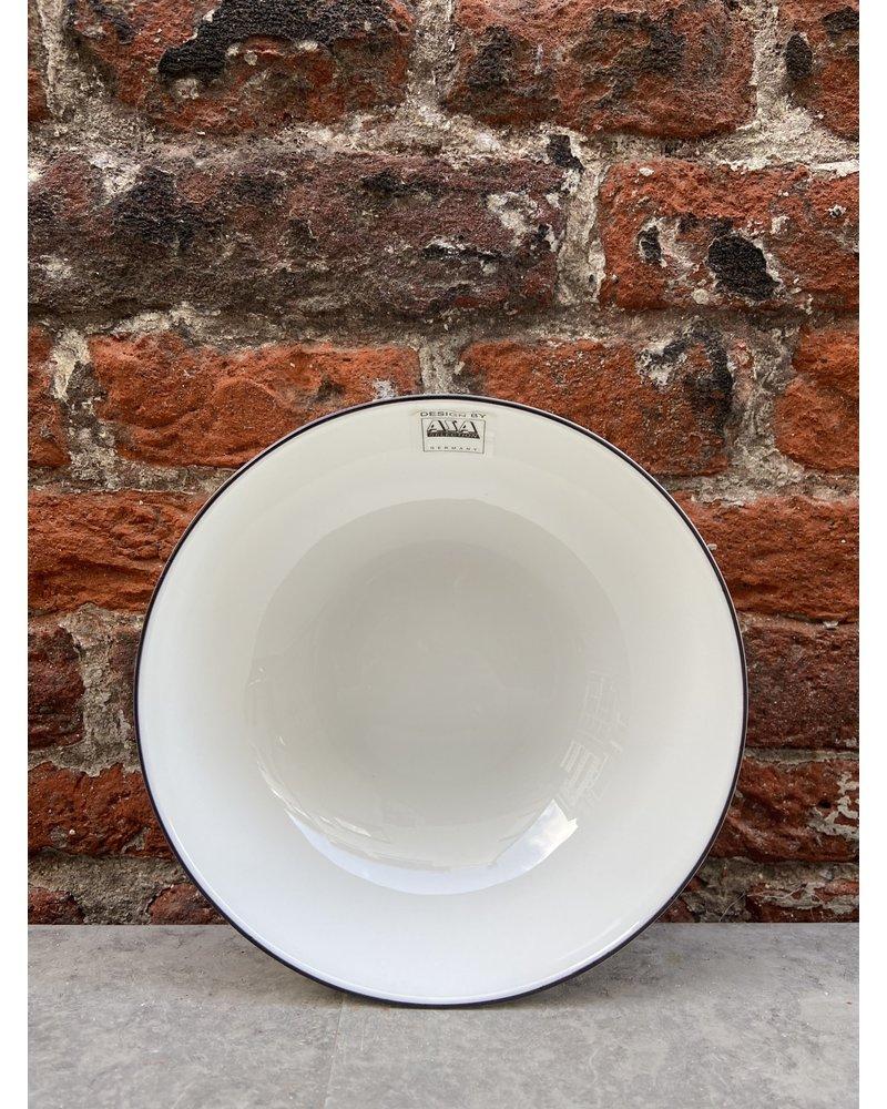 Asa ASA à Table Ligne Noir Bowl 15,5 x 5 cm