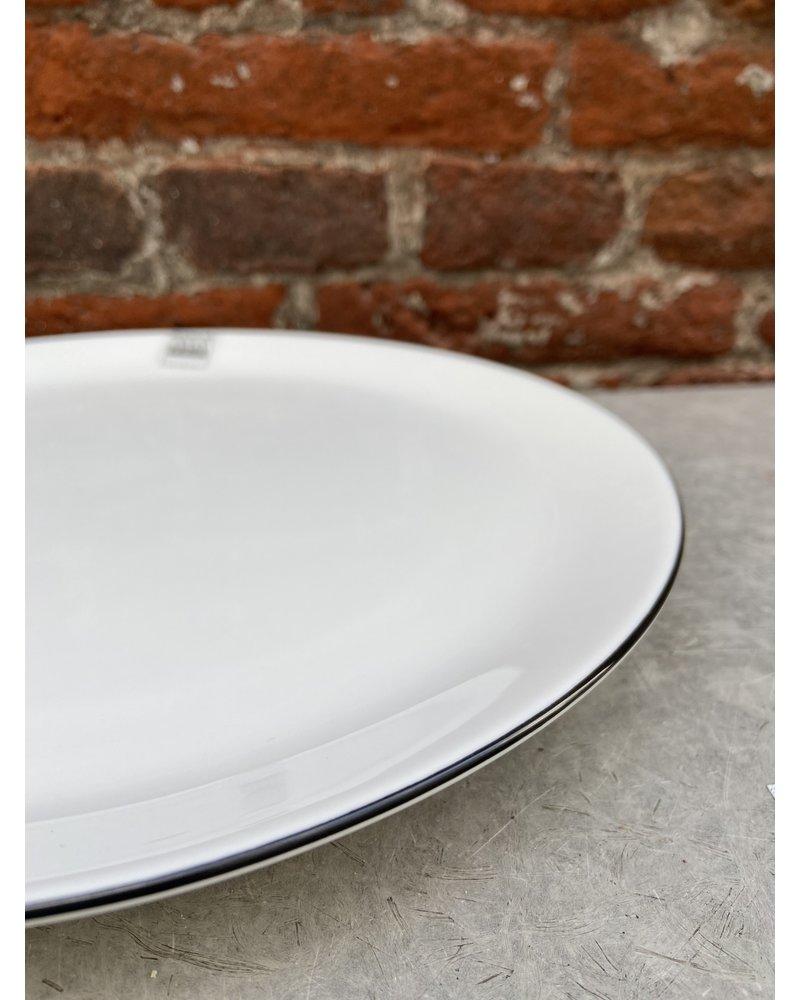 Asa ASA à Table Ligne Noir Dinner Plate