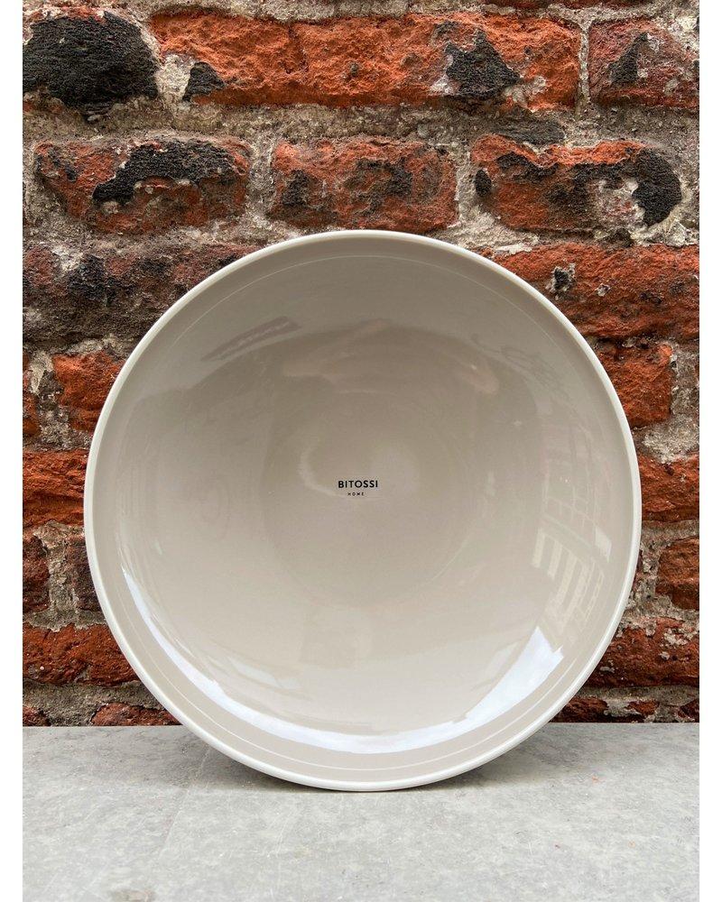 Bitossi Bitossi Sorbetto Deep Plate 'Licorice'