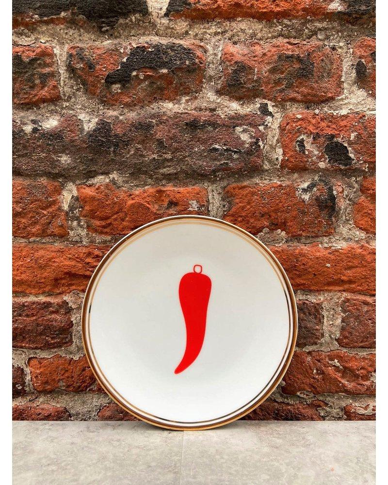 Bitossi Bitossi Funky Table  Little Plate 'Chili Pepper'