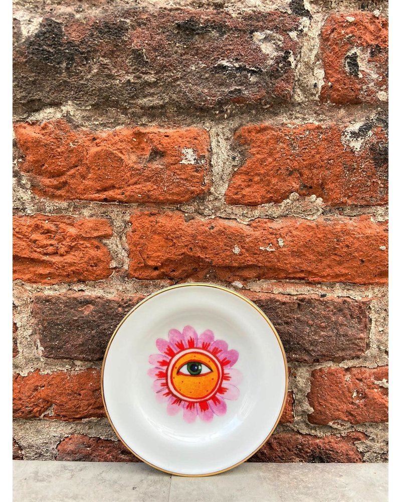 Bitossi Bitossi Funky Table Little Plate 'Flower Eye'