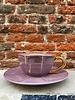 Bitossi Bitossi Funky Table Tea Cup With Saucer 'Purple Vintage'