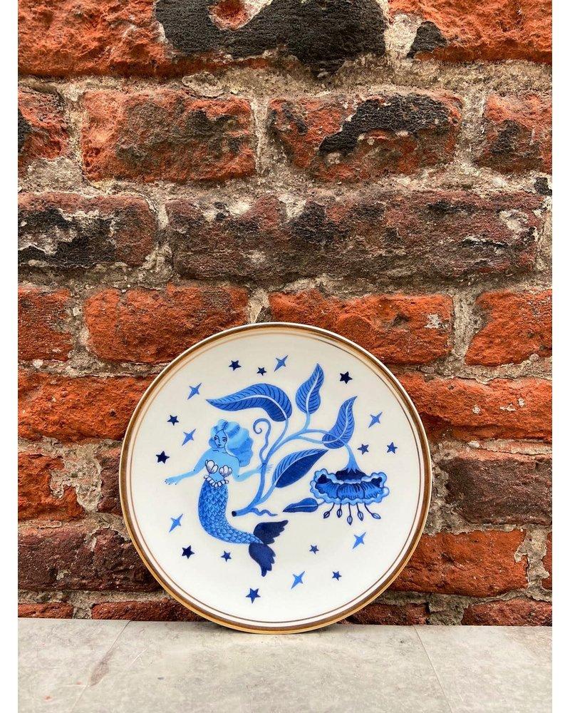 Bitossi Bitossi Funky Table Plate 'Blue Siren'
