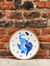 Bitossi Funky Table Plate 'Blue Dragon'