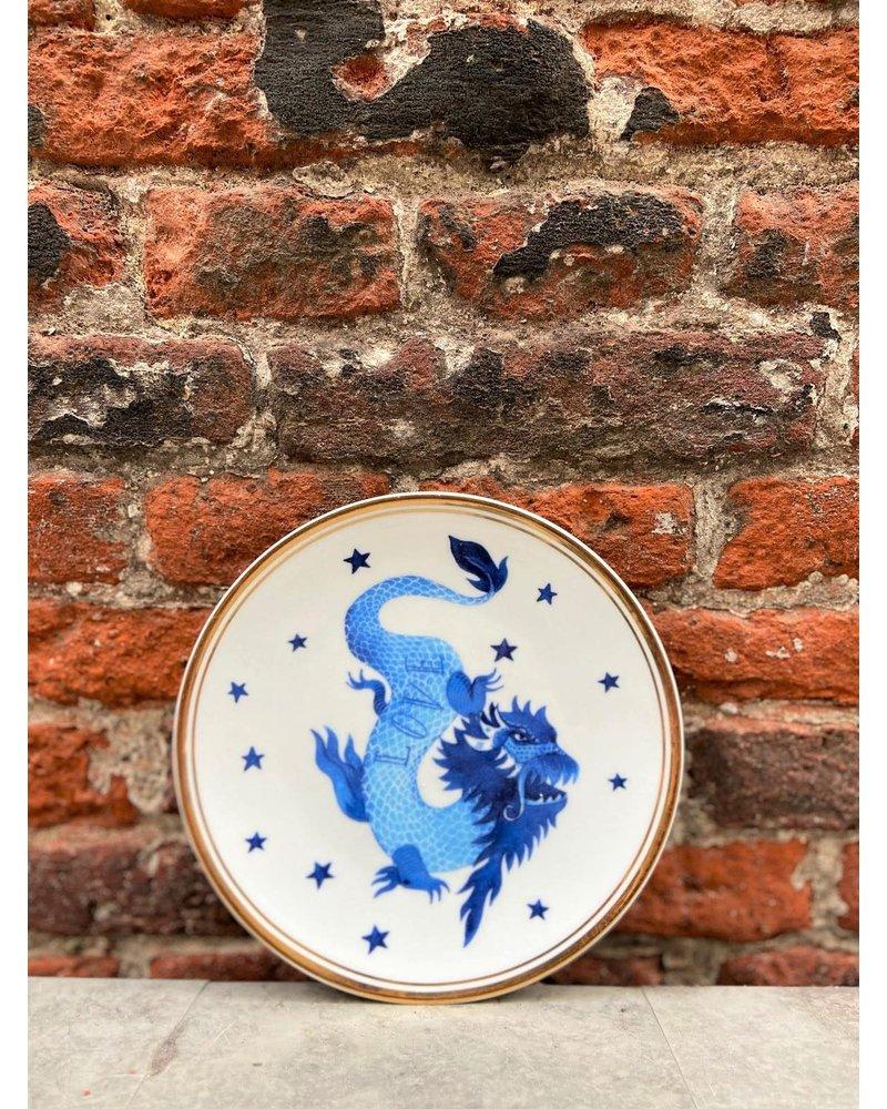 Bitossi Bitossi Funky Table Plate 'Blue Dragon'