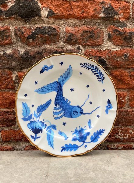 Bitossi Funky Table Fruit Plate 'Blue Fish'